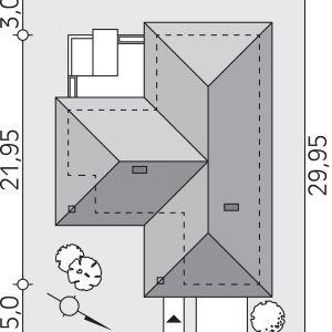 Usytuowanie domu na działce. Dom: Ambrozja 3. Projekt: arch. Tomasz Sobieszuk, Domy w Stylu