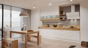 Wyeksponowana i otwarta na strefę dzienną kuchnia jest wizytówką całego wnętrza. Czy zadanie to spełni również, kiedy z powodu niedużego metrażu trzeba ją ograniczyć do niezbędnego minimum?
