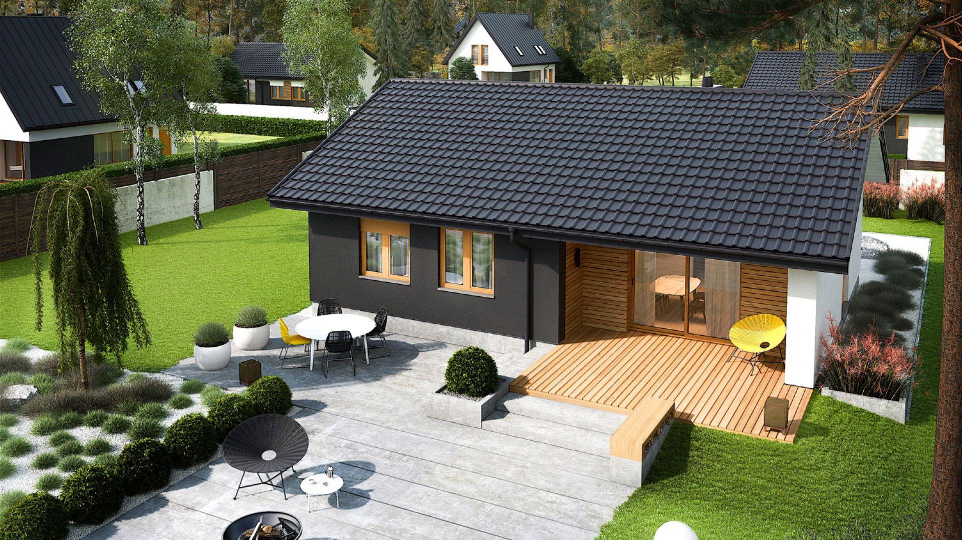 Mini 3 to idealna propozycja dla wszystkich którzy zadają sobie pytanie: co wybrać – dom czy mieszkanie? Dom Mini 3. Fot. Pracownia Projektowa Archipelag