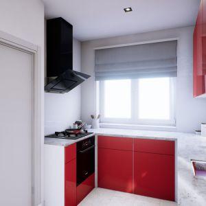 Duże okno w kuchni sprawia, że to niewielkie pomieszczenie jest pełne naturalnego światła. Dom Mini 3. Fot. Pracownia Projektowa Archipelag