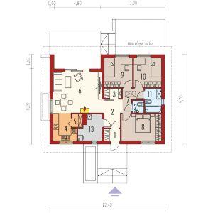 Rzut domu. Dom Mini 3. Fot. Pracownia Projektowa Archipelag