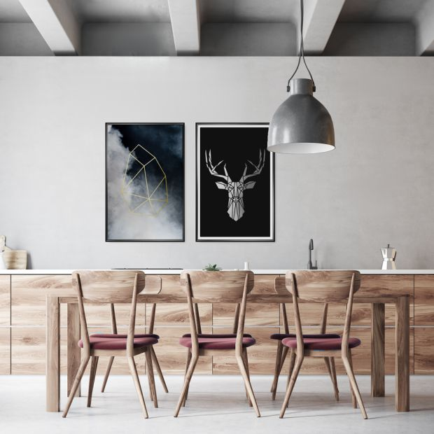 Wnętrze w stylu skandynawskim - zobacz świetne plakaty do dekoracji
