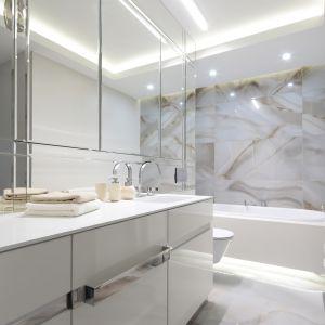 Piękna, funkcjonalna łazienka w nowoczesnym stylu. Projekt: Magdalena Kostrzewa-Świątek, Agnieszka Zaremba. Fot. Bartosz Jarosz