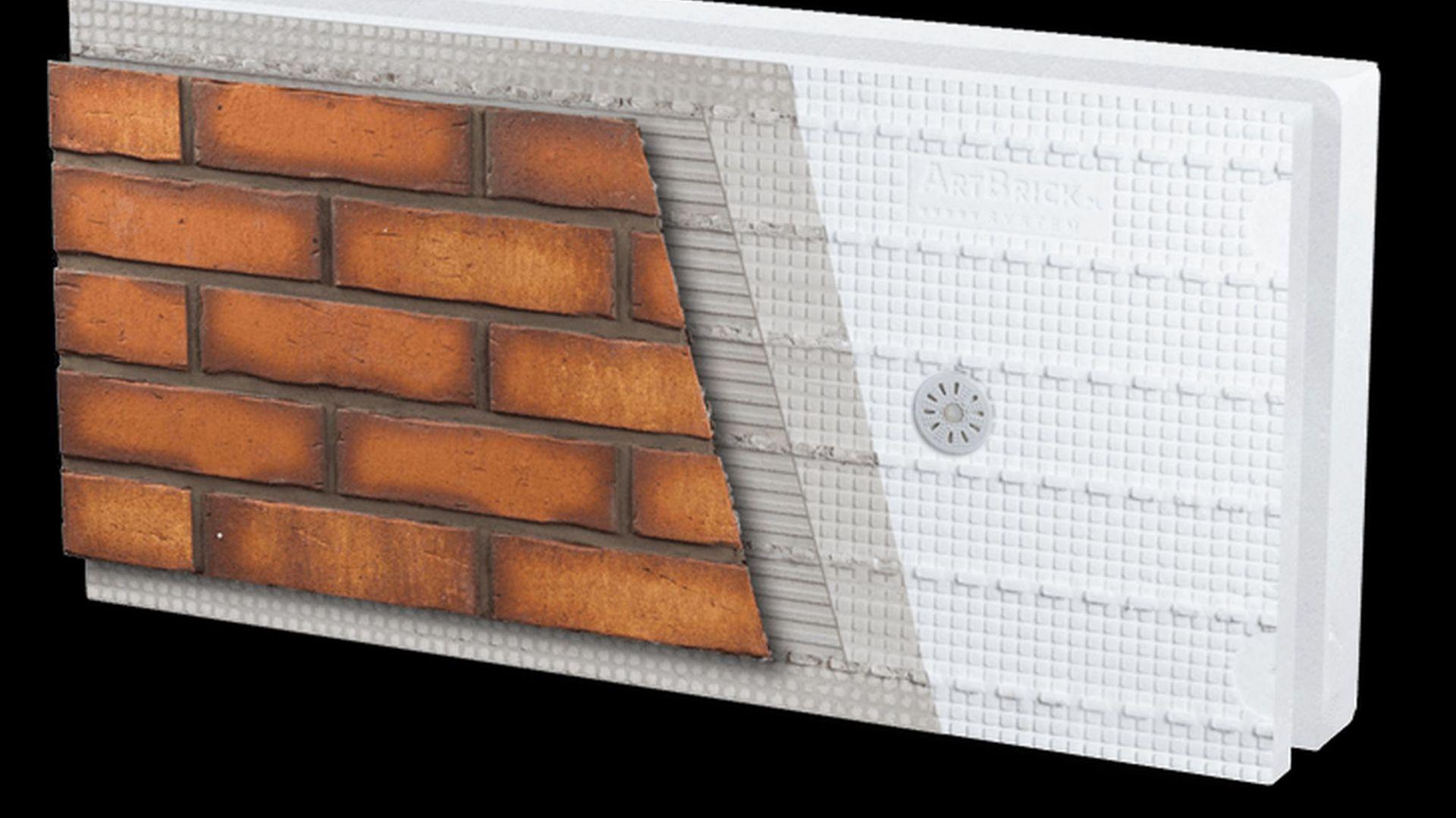 Klinkierowa elewacja: schemat systemu. Fot. Artbrick
