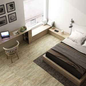 Płytki w sypialni, kolekcja Nanofacture. Fot. Apavisa