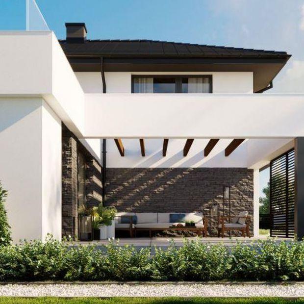 Nowoczesny dom - piękne tarasy wypoczynkowe