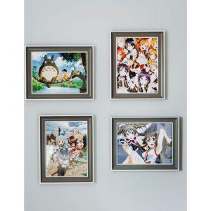 Pozwólmy dziecku mieć w pokoju motywy swoich ulubionych idoli,  wieszając na ścianie np. kilka ramek. Wówczas będzie mogło dowolnie wymieniać plakaty. Projekt: Eliza Polakiewicz (EP Studio). Zdjęcia: Marcin Mentel.