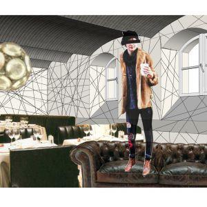 Wnętrze klubu w piwnicy 13 muz. Projekt: Tomasz Sachanowicz.