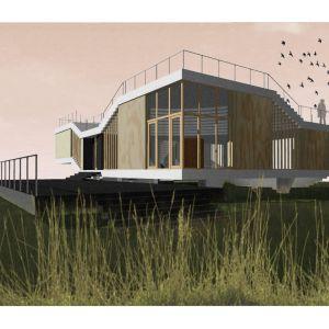 Dom 'latający dywan'. Projekt: Tomasz Sachanowicz