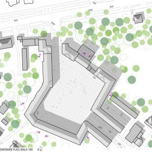 Plac Piłsudskiego we Wrocławiu, 3 nagroda w ogólnopolskim konkursie. Projekt: S.LAB architektura Tomasz Sachanowicz + Projektor Architekci