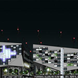 Śródmieście inaczej / projekt nadbudowy kwartałów śródmiejskich, projekt konkursowy. Projekt: Tomasz Sachanowicz