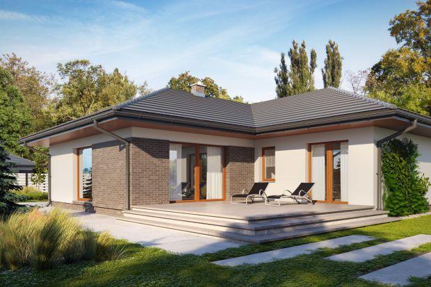 Dom parterowy -  pomysł na 130 metrów
