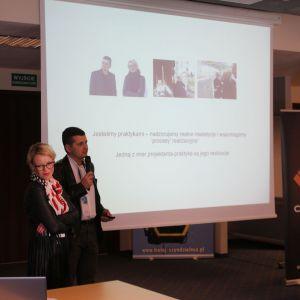 Wykład gości specjalnych Barbary Uherek Bradeckiej i Tomasza Bradeckiego. Fot. Wojciech Napora
