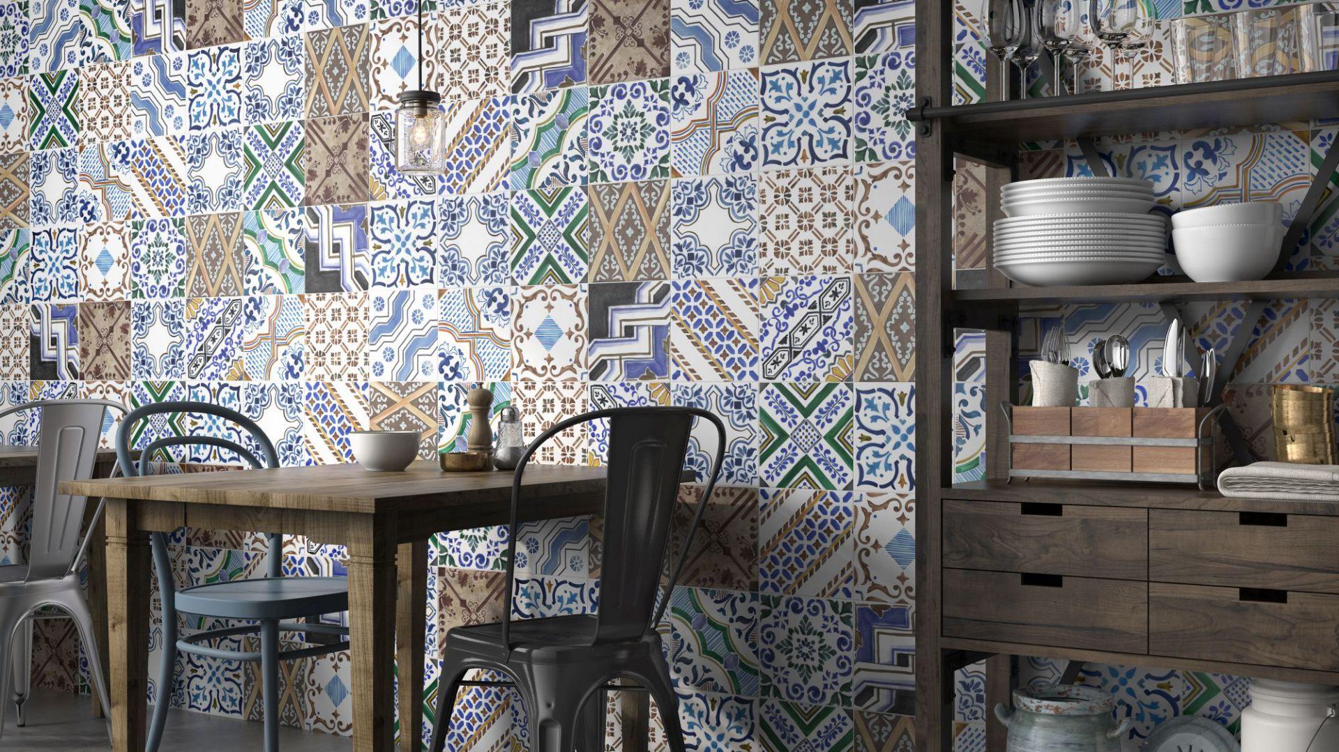 Płytki ceramiczne do kuchni. Kolekcja Montmartre Rosso. Fot. Geotiles