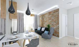 Niewielkie mieszkanie - ogromny potencjał. Projekt i wizualizacje: Klaudia Tworo