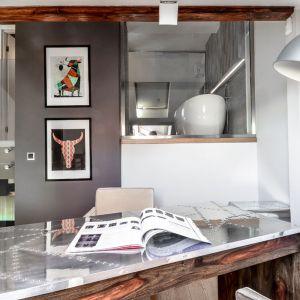 Oryginalny apartament na wielu poziomach - strefa prywatna, gabinet. Projekt: Aleksandra Pałczak-Czajkowska. Fot. Bartosz Gebalski