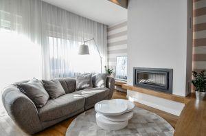 Oryginalny apartament na wielu poziomach - salon. Projekt i zdjęcia: Aleksandra Pałczak-Czajkowska