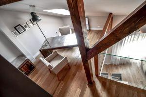 Oryginalny apartament na wielu poziomach - strefa prywatna, gabinet. Projekt i zdjęcia: Aleksandra Pałczak-Czajkowska