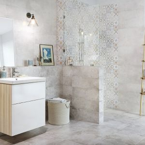 Płytki ceramiczne z kolekcji Concrete Style dostępne w ofercie firmy Cersanit. Fot. Cersanit