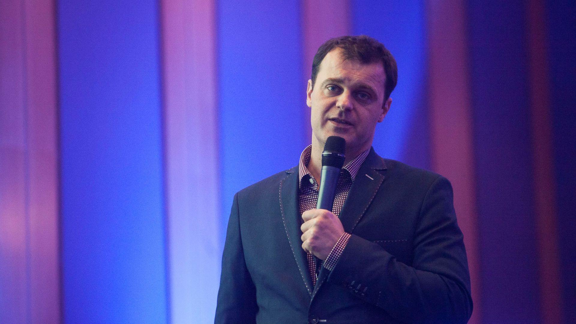 Marcelin Matusiak na V Forum Branży Łazienkowej. Fot. Marek Misiurewicz
