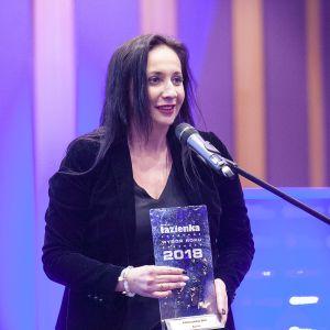Nagrodę główną w kategorii Hydromasaż dla kabiny parowej Skill marki Novellini odebrała Agnieszka Rygulska-Kmieć. Fot. Marek Misiurewicz