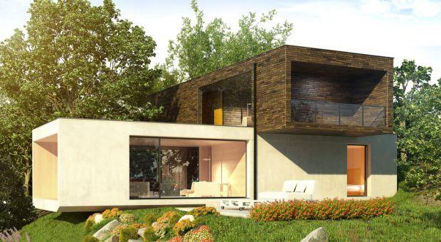 Geometryczny trend na zewnątrz i wewnątrz domu