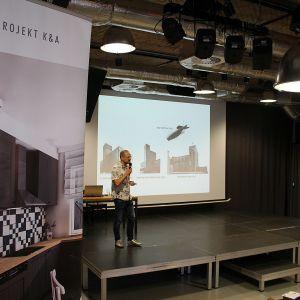 Tomasz Sachanowicz, właściciel pracowni S.LAB Architektura, architekt, gość specjalny spotkania