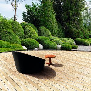 Deska tarasowa Świerk wykonana z drewna świerkowego. Dostępna w ofercie firmy DLH. Fot. DLH