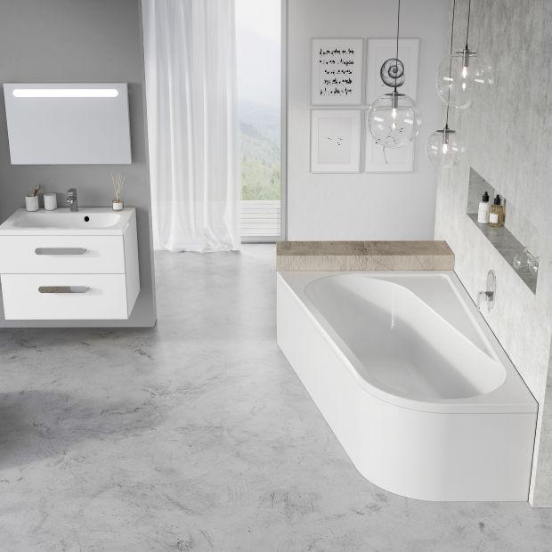 Nowość do łazienki - komfortowa wanna asymetryczna