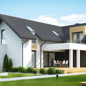 HomeKONCEPT 49 to nowoczesny dom parterowy z poddaszem użytkowym i bardzo komfortowym układem funkcjonalnym. Dom HomeKONCEPT 49. Fot. HomeKONCEPT