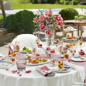Wiosenne śniadanie w ogrodzie. Fot. Villeroy&Boch