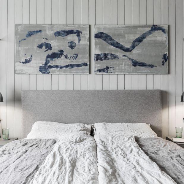 Między czernią a bielą - zobacz sypialnię Tomasza Pągowskiego