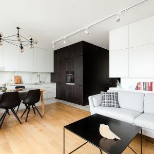 Mieszkanie na Piątkowie - salon z aneksem