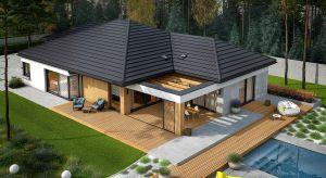 Karen G2 topiękny, przestronny i bardzo funkcjonalny projekt domu, który zachwyci Was swoją przytulnością. Taras w tym projekcie to prawdziwa perełka – zobaczcie zdjęcia.
