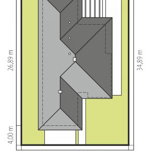 Usytuowanie domu na działce. Dom Karen G2. Projekt: arch. Artur Wójciak. Fot. Pracownia Projektowa Archipelag