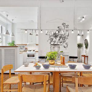 Aranżacja kuchni - pomysł na wnętrze w skandynawskim stylu. Fot. Alvhem Makler