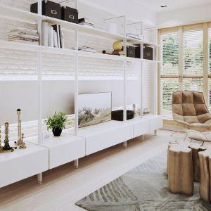 System kolumnowy Orto do zabudowy garderoby, salonu, kuchni, przedpokoju. Rozwiązanie oparte na smukłych profilach i szerokiej gamie akcesoriów. Fot. Komandor