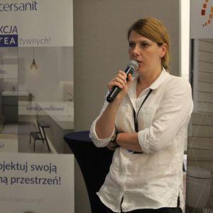 Studio Dobrych Rozwiązań we Wrocławiu 9 maja 2018 r. Grażyna Michalska z firmy Fargotex. Fot. Publikator