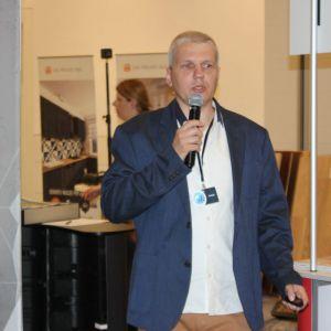 Studio Dobrych Rozwiązań we Wrocławiu 9 maja 2018 r. Grzegorz Lelek z firmy SFA. Fot. Publikator