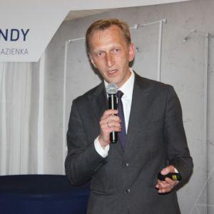 Studio Dobrych Rozwiązań we Wrocławiu 9 maja 2018 r. Marcin Pietrzyk z firmy CAD Projekt. Fot. CAD Projekt