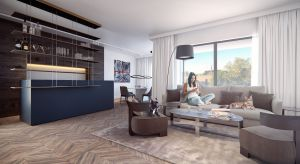 Ten wrocławski penthouse ma 153 mkw. powierzchni, a z jego panoramicznych okien rozciąga się spektakularny widok na miasto i na Odrę. Zobacz aranżację najdroższego penthouse'a w butikowym wrocławskim apartamentowcu.
