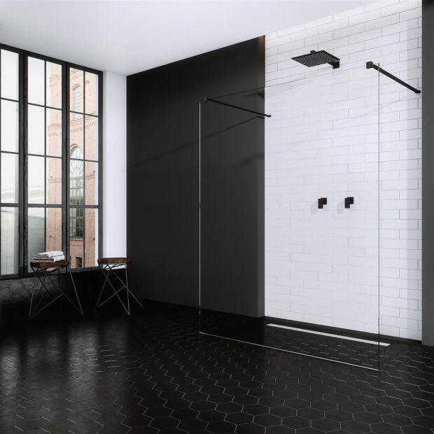 Modna łazienka - czarne wykończenia są na topie