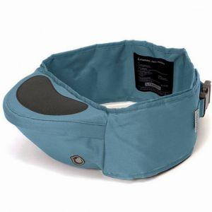 Nosidełko Hipseat składa się z pasa zapinanego na biodrach oraz siedziska dla dziecka. Dzięki temu pozwala ono na komfort młodych rodziców. Fot. Hipseat