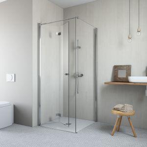 Kabina prysznicowa narożna Essenza NEW KDJ z drzwiami składanymi do środka. Fot. Radaway