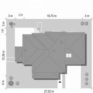 Usytuowanie domu na dziełce. Dom z widokiem 6. Projekt: arch. Michał Gąsiorowski. Fot. MG Projekt