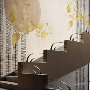 Grafiki ścienne Glamora Kolekcja Kimon, wzór Arpege. Fot. Dekorian Home
