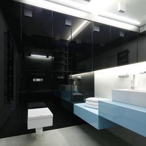 Ściany w łazience. Projekt: Ewelina Pik, Maria Biegańska. Fot. Bartosz Jarosz