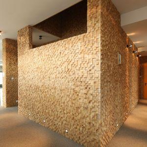 Pomysł na ścianę w salonie. Projekt: Konrad Grodziński. Fot. Bartosz Jarosz