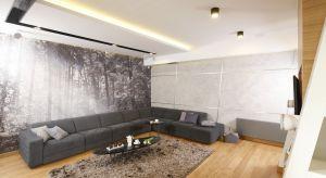 Doskonałym pomysłem na ozdobienie salonu i zaakcentowanie charakteru właścicieli jest ciekawewykończenie jednej lub dwóch ścian. Tynk, cegła, kamień, beton, tapeta czy drewno to obecnie najpopularniejsze rozwiązania.
