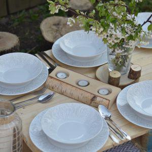 Serwis porcelanowy Quebec marki Chodzież. Fot. Polskie Fabryki Porcelany
